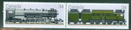 Canada 1986 Y&T 978/79 Paire Attenante De 2 Tbrs Mint Locomotives