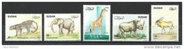 Sudan - 1990 - ( Animals - Mammals - Leopard, Elephant ... ) - Complete Set - MNH (**) - Soedan (1954-...)