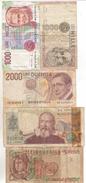 62-Banconota Da L.1.000 Volta+1000+2000+2000+5000-Condizione:Vircolate (vedi) - [ 2] 1946-… : Républic