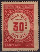 BELGIUM - Revenue TAX STAMP - 30 Cent AFFICHES / AANPLAKBRIEVEN - Used - Revenue Stamps