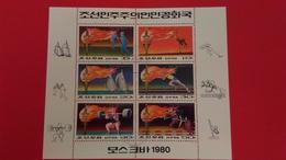JEUX OLYMPIQUES MOSCOU - Corée Du Nord 1980 Bloc N°?? - Oblitérés