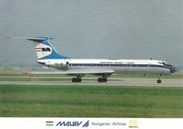 AIRPLANE AEROPLANE AIRCRAFT TUPOLEV TU-134 HUNGARIAN AIRLINES MALEV * FRANKFURT GERMANY GERMAN * Reg Volt 0208 * Hungary - 1946-....: Moderne