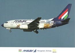 AIRPLANE AEROPLANE AIRCRAFT BOEING 737 HUNGARIAN AIRLINES MALEV FRANKFURT AM MAIN GERMANY GERMAN Reg Volt 0213 * Hungary - 1946-....: Moderne