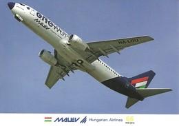 AIRPLANE AEROPLANE AIRCRAFT BOEING 737 HUNGARIAN AIRLINES MALEV KOLOZSVAR CLUJ-NAPOCA ROMANIA * Reg Volt 0216 * Hungary - 1946-....: Ere Moderne