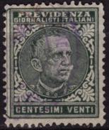 Italy - Previdenza Dei Giornalisti Italiani / Pension Insurance Charity Stamp - Used - 5. 1944-46 Lieutenance & Umberto II