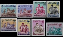AFGHANISTAN 1964 United Nations D. Big Farm Animals Cattle Medicine IMPERF.SET:8 St [non Dentelé,Geschnitten,no Dentado]