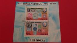 CENTIEME ANNIVERSAIRE DE LA MORT DE SIR ROWLAND HILL - Corée Du Nord 1980 Bloc N°?? - Oblitérés