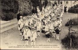 Cp Saint Fraimbault De Prières Mayenne, Fanfare Des Petits Orphelins - France
