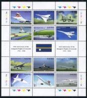 Nauru 2006 Concorde 12v M/s, (Mint NH), Transport - Aircraft & Aviation - Concorde