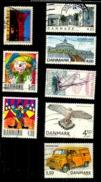 Danemark  Oblitérés Scott N°1288.1231.1224.1225.1193.1053.1031.1240.