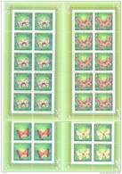 1996. Kazakhstan, Butterflies, 4 Sheetlets Of 10v, Mint/**