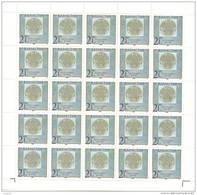 "1996. Kazakhstan, OP New Value On Stamp ""Day Of Republic"", Sheet Of 25v, Mint/** - Kazakhstan"
