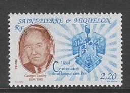 TIMBRE NEUF DE ST PIERRE ET MIQUELON - CENTENAIRE DE LA BANQUE DES ILES N° Y&T 511