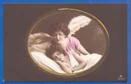 Kind Mit Engel; Enfant; Mädchen; Child; Girl; Fille; 1914 Serie 4554/5 - Anges