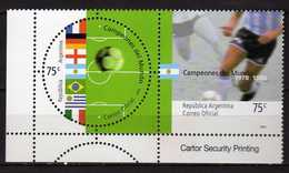 Argentina 2002 Football World Champions Of The 20th Century.flag & Players From World Football Championships 1978 & 1986 - Argentina