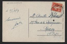 Bas Rhin -  Cachet  Provisoire  HERRLISHEIM  BASSE  ALSACE - Marcophilie (Lettres)
