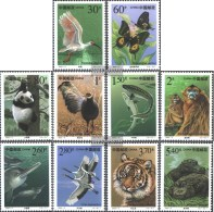 People's Republic Of China 3115-3124 (complete.issue.) Fine Used / Cancelled  2000 Protected Animals