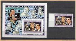Congo Chess Kasparov Echecs Ajedrez Schach 1991 1v + 1v Deluxe IMP. MNH - Chess