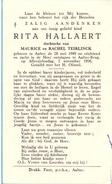 Devotie - Doodsprentje - Rita Hallaert - Aalter 1949 - Aalter Brug 1956 - Décès