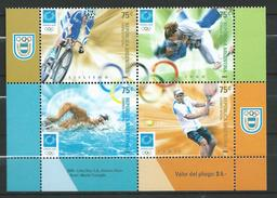 Argentina 2004 Olympic Games - Athens, Greece.Cycling.Judo.Swimming.Tennis.MNH - Argentina