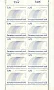 Luxembourg Feuillet De 10 Timbres à 0,70 Euro    Cinquantenaire De La Banque Européenne D´Investissement (EIB)  2008