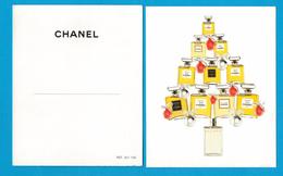 Cartes Parfumées Carte CHANEL GAMME FEMME SAPIN NOEL CHANEL N° 5 Et N°19 Et ALLURE Et COCO - Cartes Parfumées