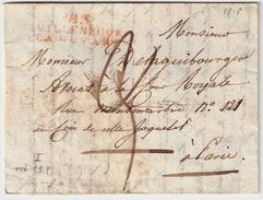 """1818 """" VILLENEUVE - LA ... """" , #7403 - Marcofilia (sobres)"""