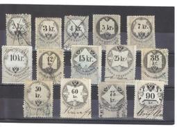 NEU698 LOT STEMPELMARKEN FISKALMARKEN ÖSTERREICH 1866 LOT Mit UMSCHRIFT ENTWERTET - Steuermarken
