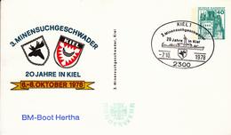 NPP 100/80 3.Minensuchgeschwader 20 Jahre Kiel 6-8-Oktober 1978 - BM-Bott Hertha, Kiel 1 - Privatpostkarten - Gebraucht