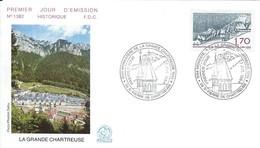 Enveloppe Premier Jour D'émission/La Grande Chartreuse/Monastére/St Pierre De Chartreuse/Isére/1984     PJE66 - Stamps