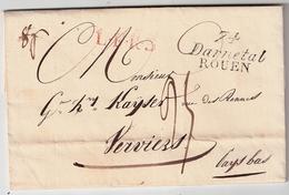 """"""" 74 Darnetal-ROUEN """" Cursive,tres Claire ! Rare !  #7406 - 1801-1848: Précurseurs XIX"""