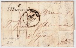 """ 6 - St. Pierreville "" , Cursiv , #7408 - Marcofilia (sobres)"