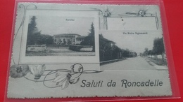 SALUTI DA RONCADELLE  SAVALDO  VIA PIETRO SIGISMONDI   RARE - Italia