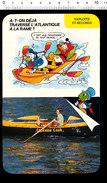 Humour Traversée De La Mer Atlantique à La Rame / Barque Canot Capitaine Cook Gérard D'Aboville Rameur Aviron  / IM D-24 - Vieux Papiers