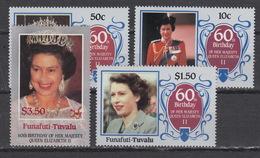 TUVALU - FUNAFUTI : Michel N° 71-74 - 60th Annivers. Of Elisabeth II (1986) ** MNH - Tuvalu
