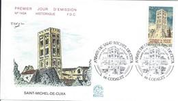 Enveloppe Premier Jour D'émission/Abbaye Saint Michel De Cuxa/CODALET/1985     PJE71 - Stamps