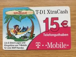 German Telekom Xtracash Card 15 € - Limited Edition Disney - Little Printed -  Used Condition - Deutschland