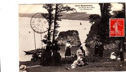 DOUARNENEZ Les Bords De La Baie Aux Plomarc'hs Belle Cpa Animée Circulée En 1907 Bel état Voir Scans - Douarnenez