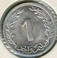 Tunisie Tunisia 1 Millim 1960 Alu UNC KM 280 - Tunisie