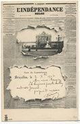 Journal Crevé L' Indépendence Belge 17 /11/1901 Gare Du Luxembourg Newspaper Advert - Sonstige