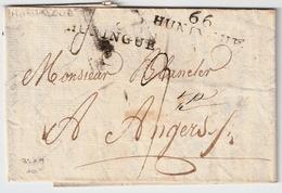 """"""" 66 """" HUNINGUE """", Ind. 10, #7423 - Marcofilia (sobres)"""