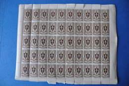 CAMEROUN - PLANCHE DE 50 TIMBRES FRANCE LIBRE 5C 1941 - Cameroun (1915-1959)