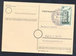 Germany Deutschland 1958 Cancellation: Boxing Box Boxe; Deutsche Amateur Box Meisterschften Westfalenhallen Dortmund