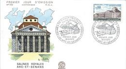 Enveloppe Premier Jour D'émission/Salines Royales/Arc-et-Senans/DOUBS/1970    PJE75 - Stamps