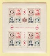 MONACO  /  CROIX-ROUGE MONEGASQUE 1949 , PRINCE RAINIER + PRINCESSE CHARLOTTE  /  B.F. N° 3A