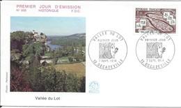 Enveloppe Premier Jour D'émission/Vallée Du Lot/DECAZEVILLE/Aveyron/1974   PJE77 - Timbres