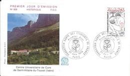 Enveloppe Premier Jour D'émission/Centre Universitaire De Cure/St Hilaire Du Touvet/Isére/1975   PJE79 - Stamps