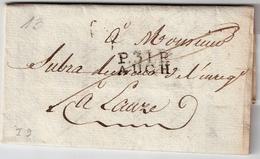 """1813 ,"""" P. 31 P. - AUCH """" Ind. 9   , #7415 - Marcofilia (sobres)"""