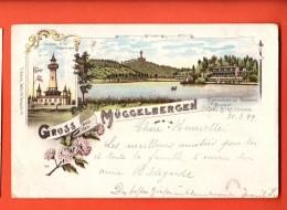IAJ-28 Gruss Aus Den Müggelbergen, Restaurant Teufelsee Carl Streichman. Gelaufen In 1899 Nach Roubaix FR - Koepenick