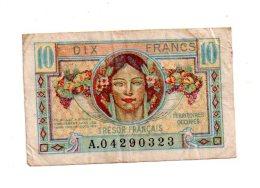 Trésor Français -10 Francs-voir état